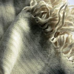 Hand spun, hand woven pashmina & eri silk shawl