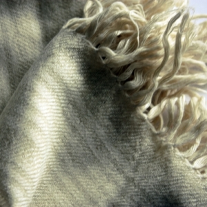 Hand spun, hand woven pashmina  and eri silk shawl