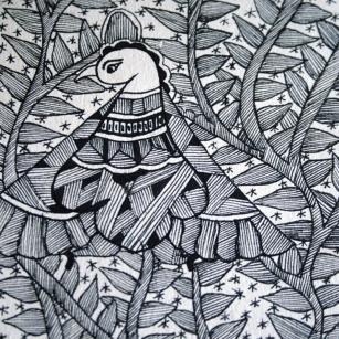 Detail of a Madhubani painting
